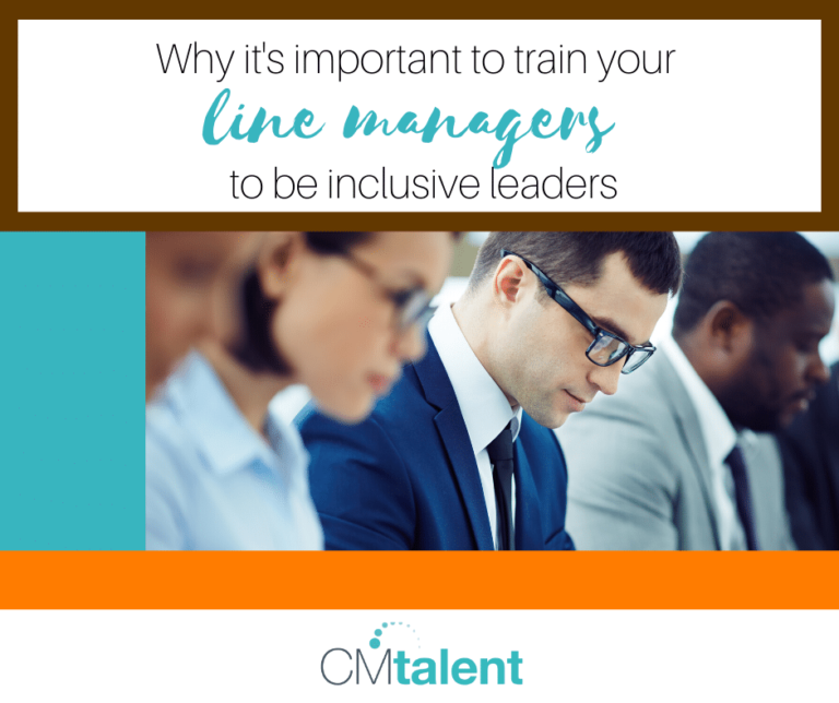 Why it's important to train your line managers to be inclusive leaders