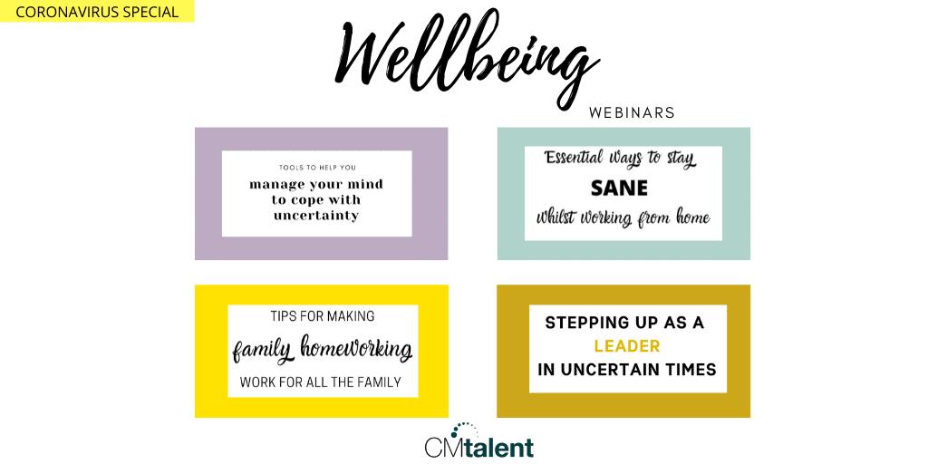 wellbeing webinar series from CM Talent