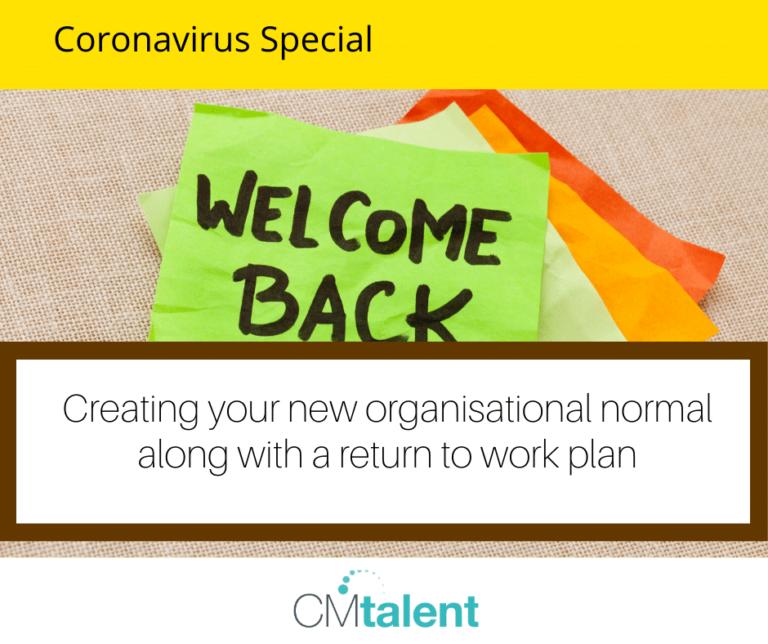 Coronavirus return to work plan